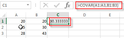 excel covar examples2
