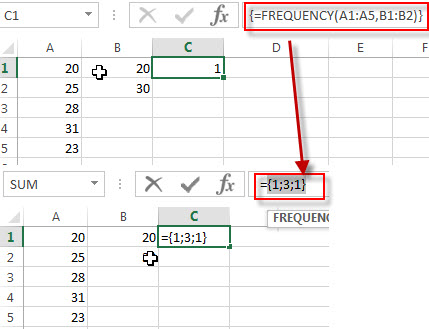 excel frequency examples1