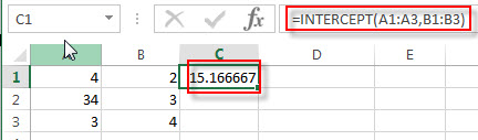 excel intercept exampels1
