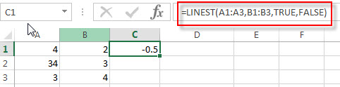 excel linest examples1