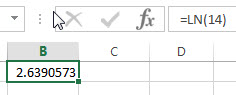 excel ln examples1