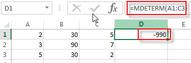 excel mdeterm examples1
