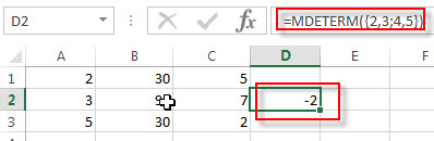 excel mdeterm examples2