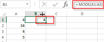 excel mode examples1