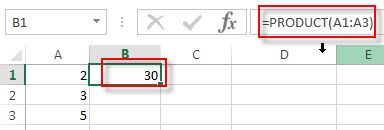 excel product example1