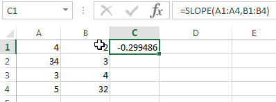 excel slope examples2