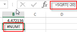 excel sqrt examples2