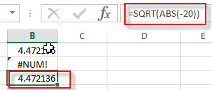 excel sqrt examples3