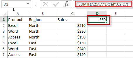 excel sumif examples1