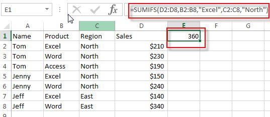 excel sumifs examples1