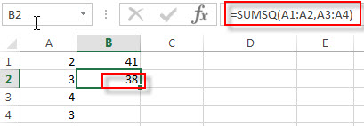 excel sumsq examples2