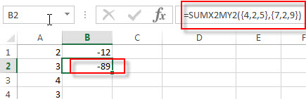 excel sumx2my2 examples2