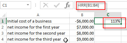 Excel IRR examples1