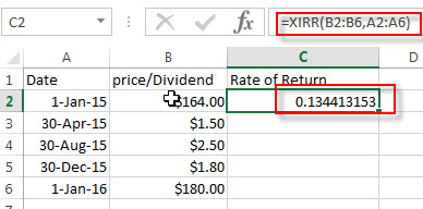 calculate stock return11