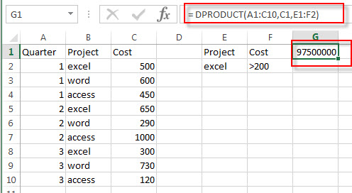excel dproduct examples1