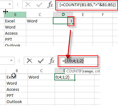 find maximal string countif function1