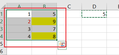 change values in range2
