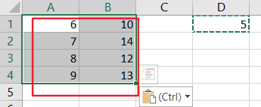 change values in range5