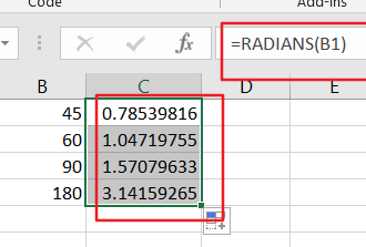 convert angels from radians to degree1