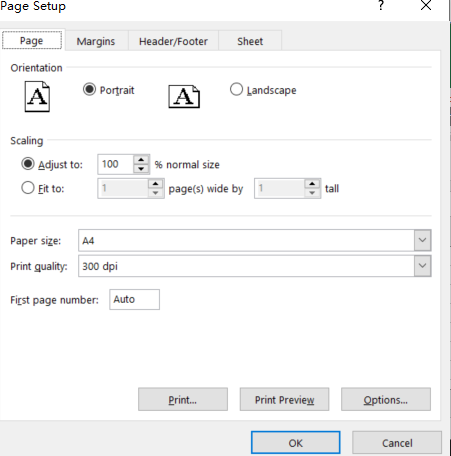 copy page setup to other sheet5