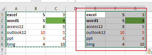 copy only values and format3
