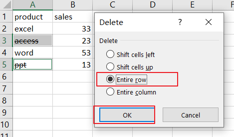 filter data with strikethrough format9
