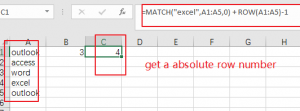 get row number from vlookup2
