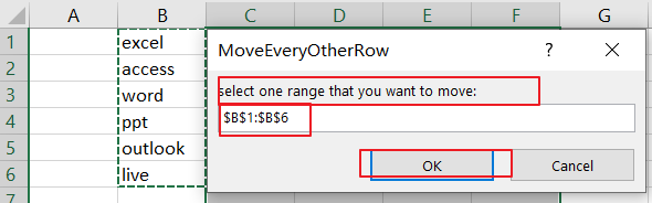 move every other row to new column5