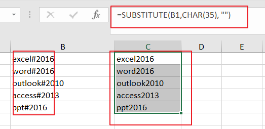 remove specific character from text string6