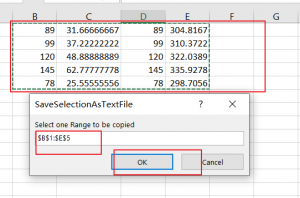 save range selection to text file3