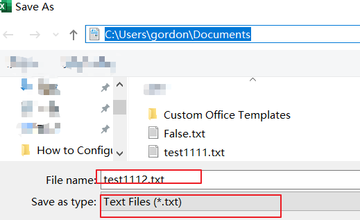 save range selection to text file4