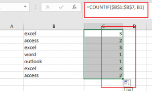 sort column by occurrence count1