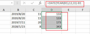 calculate remaining days5