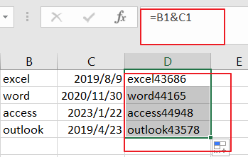 combine text and data into one cell1