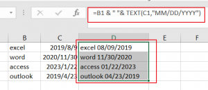 combine text and data into one cell2