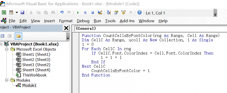 count cells by font color2