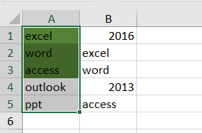 highlight cell if same value exists in another column5
