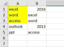 highlight cell if same value exists in another column8