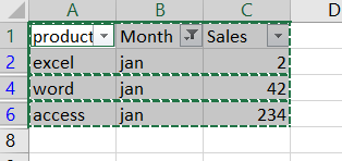 paste cells into filtered column or row3