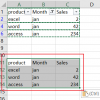 paste cells into filtered column or row4