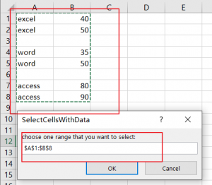 select cell with data3