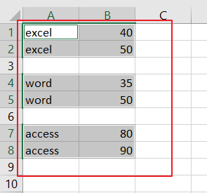 select cell with data4