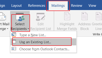 send messages to a list of email address1
