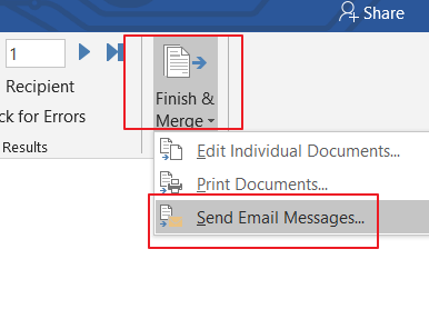 send messages to a list of email address5