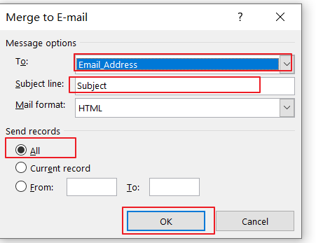 send messages to a list of email address6