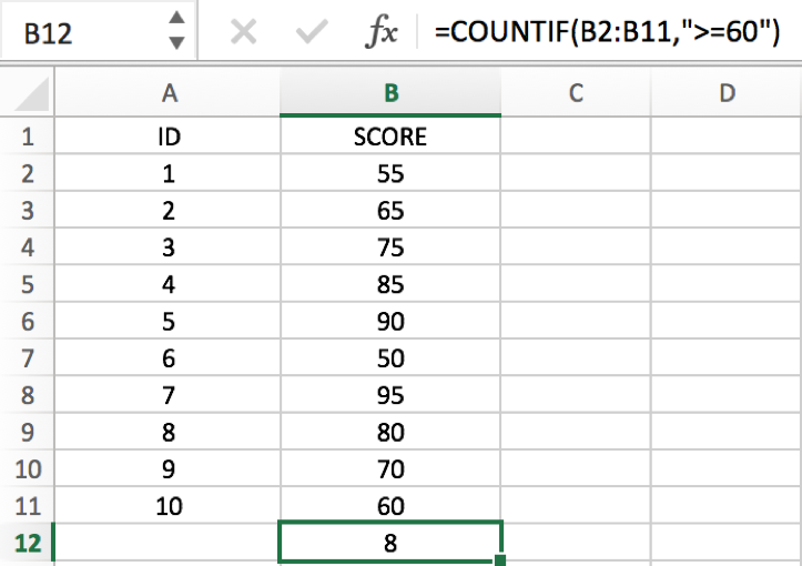 How to COUNT and SUM greater than and less than a number in Excel 3