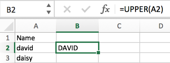 How to convert text case into uppercase or lowercase in Excel 3