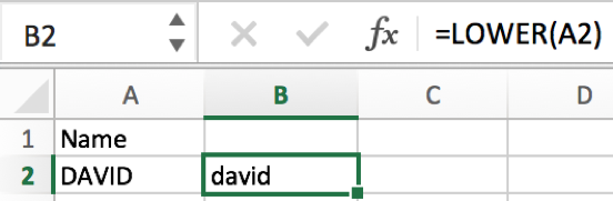 How to convert text case into uppercase or lowercase in Excel 7