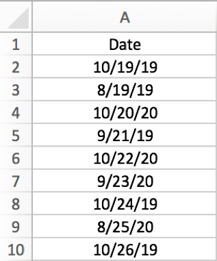 How to filter dates by month in Excel with year ignored 1