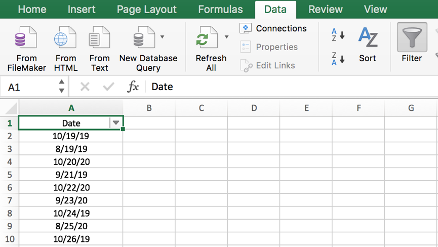 How to filter dates by month in Excel with year ignored 2